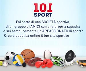 Attiva ora il sito della tua società sportiva con 101 Sport
